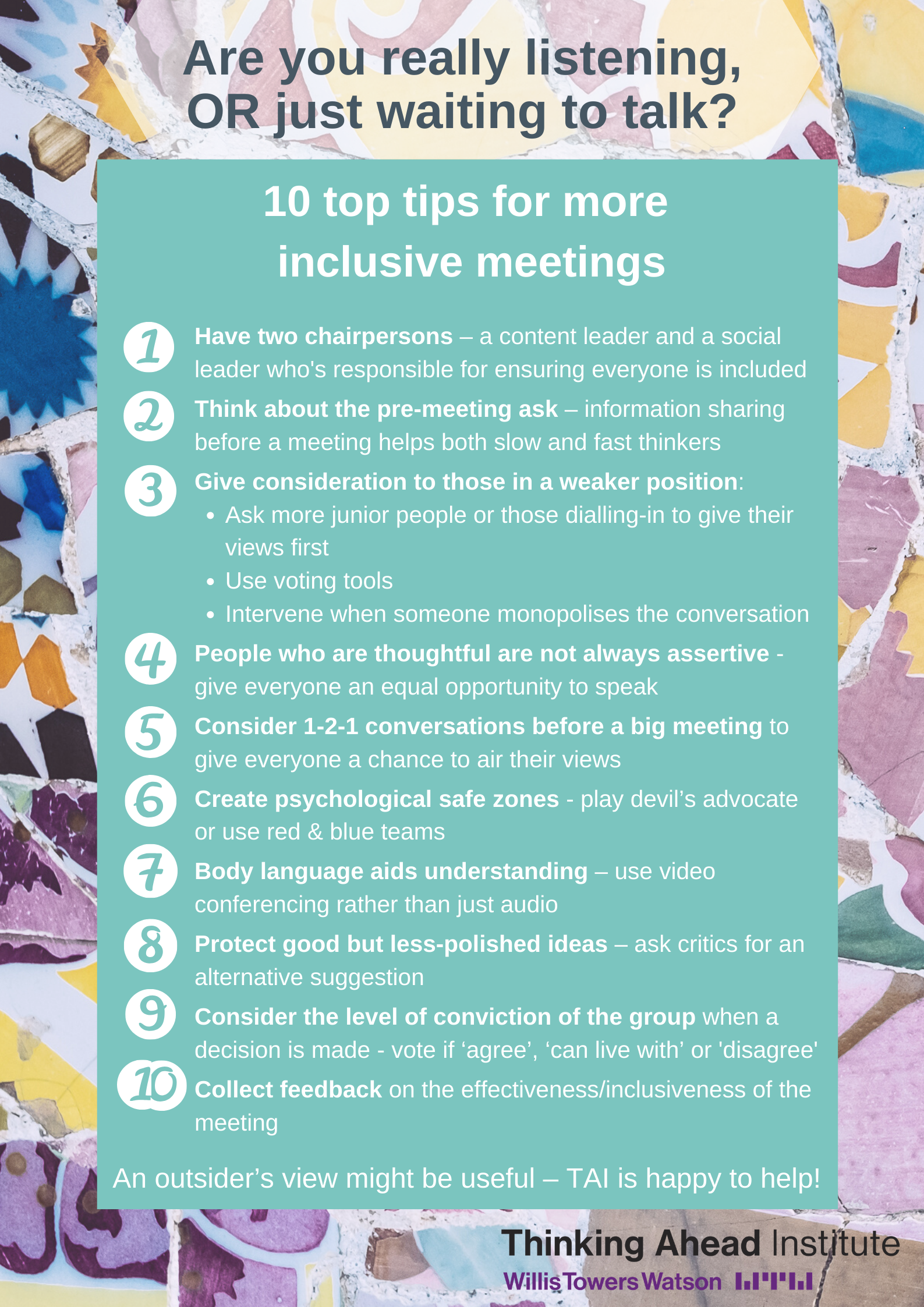10 tips for more inclusive meetings