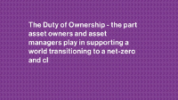 The Duty of Ownership video still